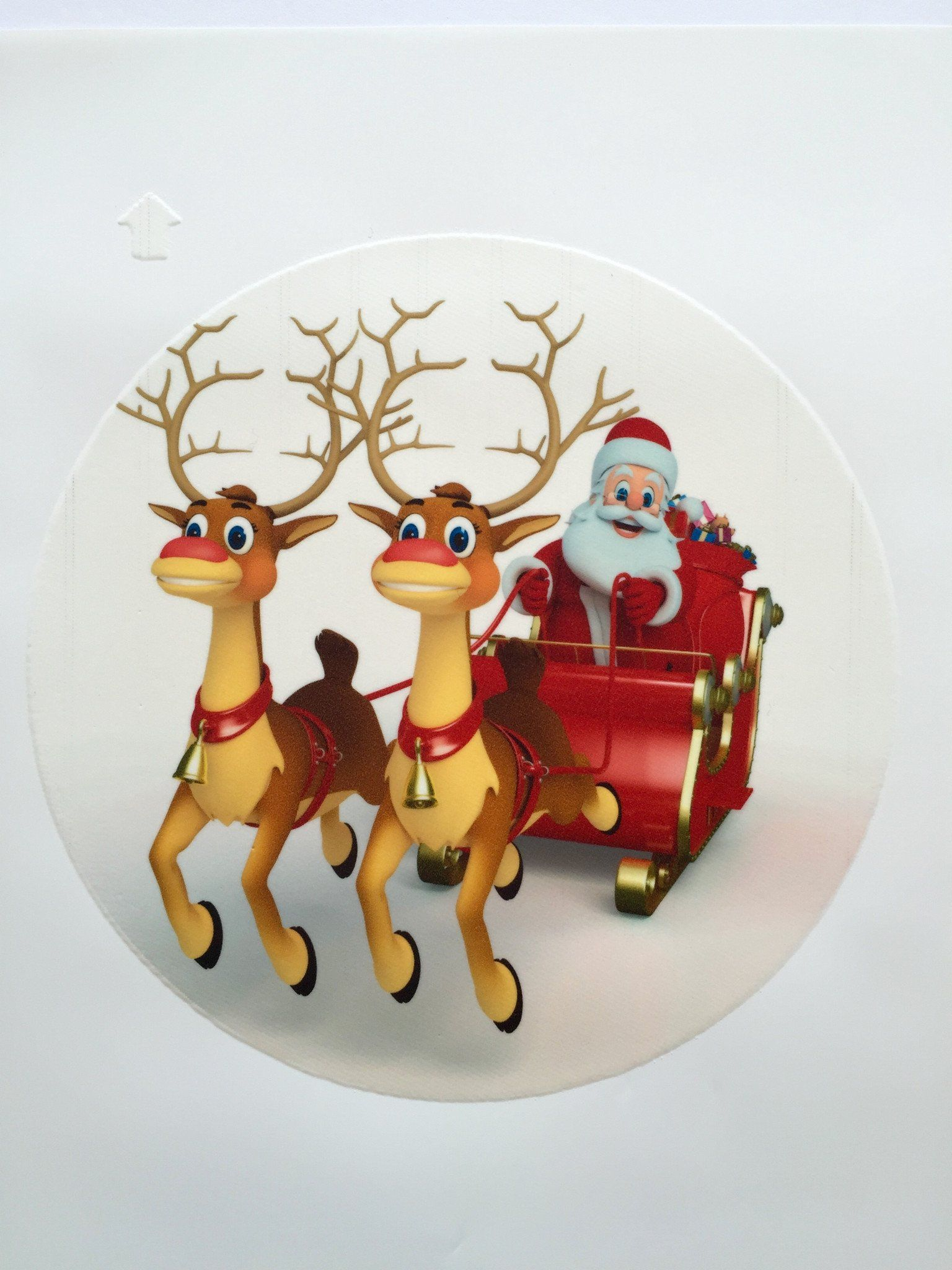 Edible cake toppers decoration - Christmas Reindeer cake top