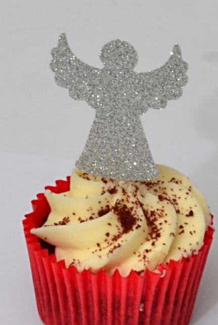 Angel cupcake topper