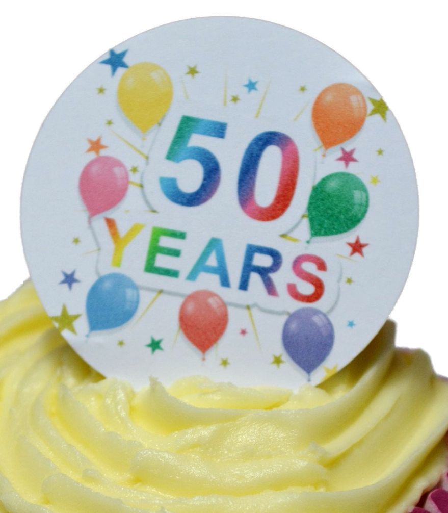 Edible Cake Toppers Decoration 50 Years